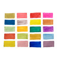 watercolor texture colorful rectangles design set vector image vector image