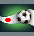 with soccet ball and flag of japan vector image