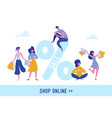woman with shopping bags and presents people vector image vector image