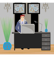 Young businessman in his office vector image vector image