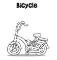 Bicycle art with hand draw vector image