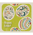 retro Paper easter egg card vector image