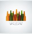 beer bottle glass logo banner design background vector image