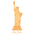 statue of liberty cartoon with torch flat design vector image
