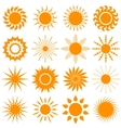 sun icon collection - vector image