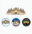 adventure yurts vector image vector image