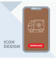 ambulance truck medical help van line icon in vector image vector image