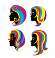 Beauty Rainbow Hair Woman vector image vector image