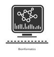 bioinformatics glyph icons set human genome vector image vector image