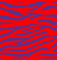 blue red tropical animal zebra seamless pattern vector image