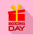 boxing day sale logo set flat style vector image vector image