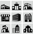 buildings stores and home icon set vector image