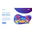 car wash service concept landing page vector image vector image