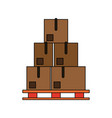 cardboard boxes icon image vector image vector image