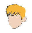 cartoon head man profile avatar vector image vector image