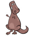 cartoon of funny dinosaur character vector image