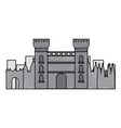 catalonia castle monument famous historic vector image