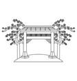 chinese gate cartoon vector image