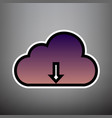 cloud technology sign violet gradient vector image vector image