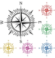 colorful compasses vector image vector image