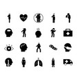 covid19 19 silhouette style icon set design vector image vector image