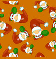 cute santa clauses seamless pattern can be vector image vector image