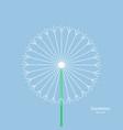 dandelion - icon summer flower white dandelion vector image