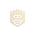 design king animals hand drawn vector image