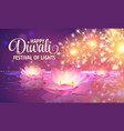 diwali greeting background 3d festival of vector image vector image