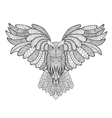 Eagle owl Adult antistress coloring page vector image vector image