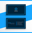 elegant blue business card in line style template vector image