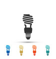 energy saving light bulb icon on white background vector image vector image