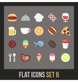 Flat icons set 6 vector image vector image