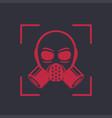 gas mask respirator icon biohazard symbol vector image