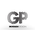 gp g p lines letter design with creative elegant vector image vector image