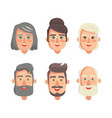 grandparents faces collection vector image vector image
