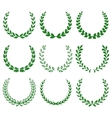 green laurel wreaths 1 vector image