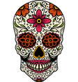 hand drawn mexican sugar skull isolated on white vector image vector image