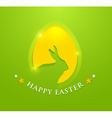 happy easter egg with bunny ears shape vector image vector image
