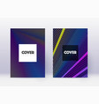hipster cover design template set rainbow abstrac vector image vector image