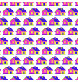 house seamless pattern 3d style vector image vector image
