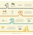 Infographic report template with numbers and icons vector image