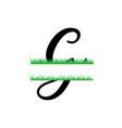 initial g grass monogram split letter isolated vector image