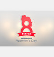 international happy womens day creative card vector image