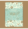 invitation with flowers vector image vector image