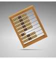 isolated retro light wood abacus for calculation vector image