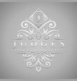 letter j logo - classic luxurious silver vector image vector image