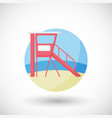 lifeguard station flat icon vector image vector image