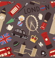 london travel icons english set city flag europe vector image vector image