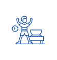 morning gymnastics line icon concept morning vector image vector image